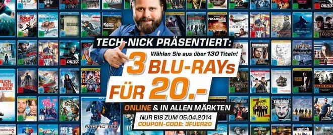 3 Saturn Blu-rays für 2 dank Couponcode