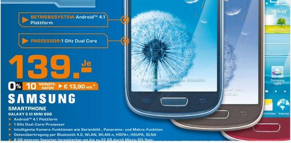 Saturn Preissenkung fürs Samsung Galaxy S3 mini