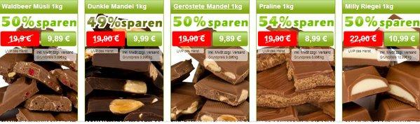 Schokoladen Outlet versandkostenfrei