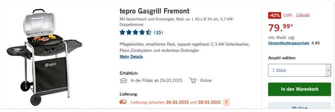 Tepro Fremont LIDL Angebot