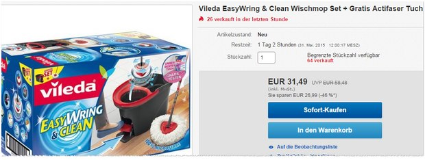 Vileda Easy Wring & Clean