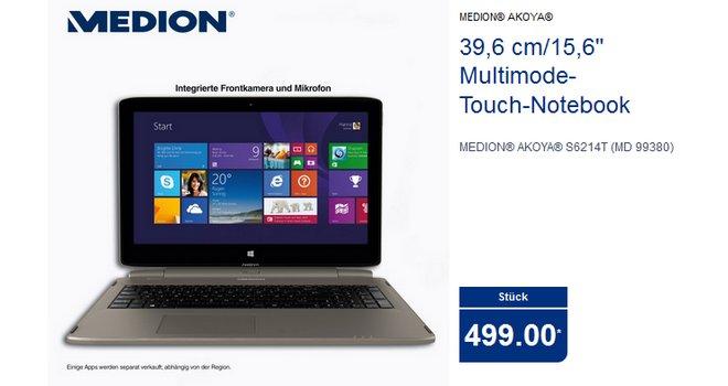 ALDI-PC Medion Akoya S6214T