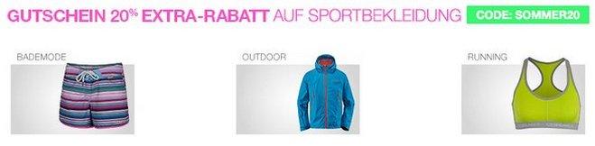 Amazon Gutscheincode Sportbekleidung
