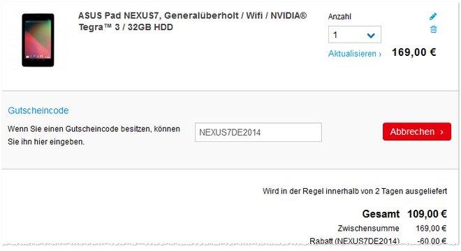 Asus Google Nexus 7 2012 günstiger