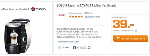 Bosch Tassimo TAS 4011