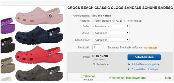 Crocs Beach