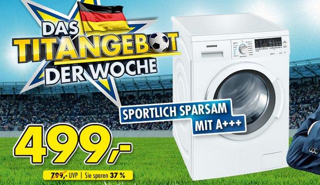 Euronics Titangebot Siemens Waschmaschine