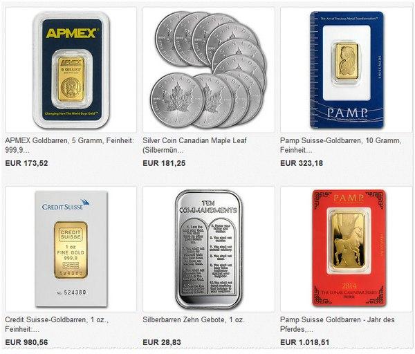 Goldpreise