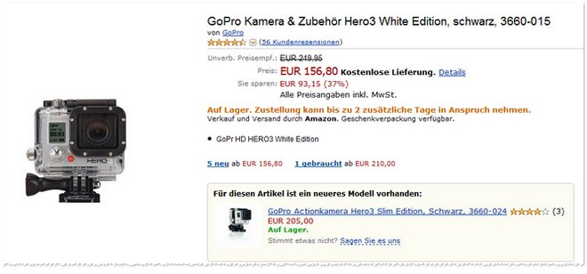 GoPro Hero3 White Edition günstig