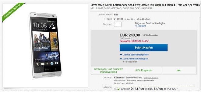 HTC One mini günstig kaufen