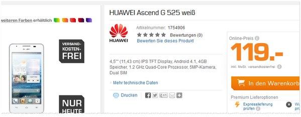 Huawei Ascend G525 als Saturn Angebot