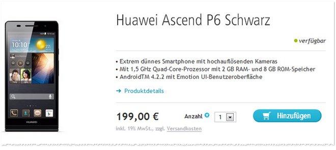 Huawei Ascend P6 Angebot