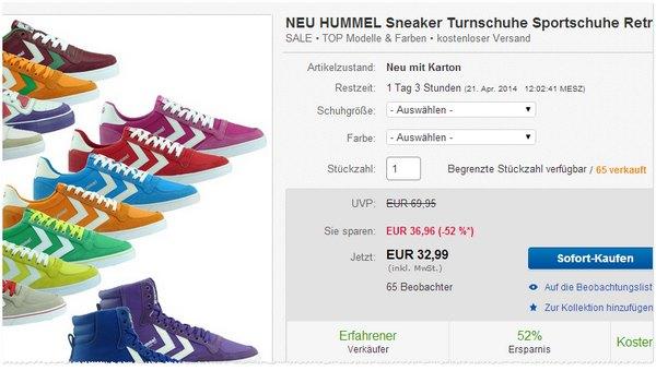 Hummel Sneaker günstig bei eBay