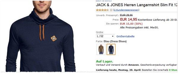 Jack & Jones Charlie Tee für 14,95 €