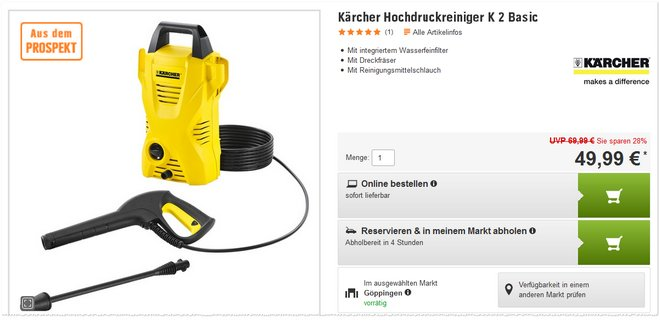 Kärcher K2 Basic Angebot