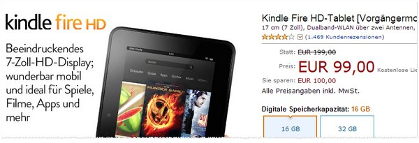 Kindle Fire HD Vorgängermodell