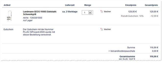 Landmann Geos 11065 Angebot