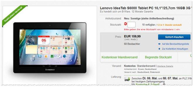 Lenovo IdeaTab S6000 B-Ware