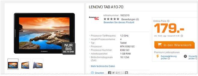 Lenovo Tab A10-70