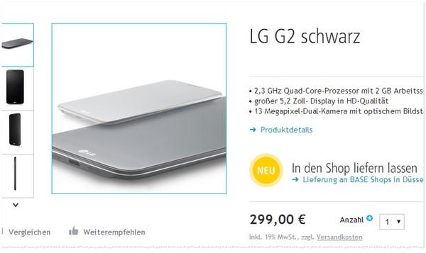LG G2 Preis bei Smartkauf
