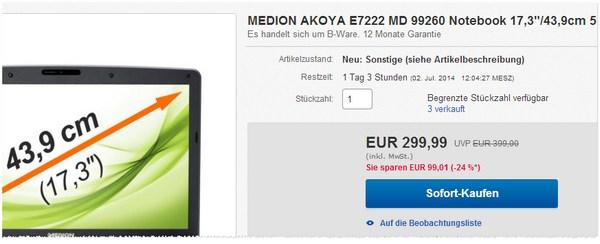 Medion Akoya E7222 MD 99260