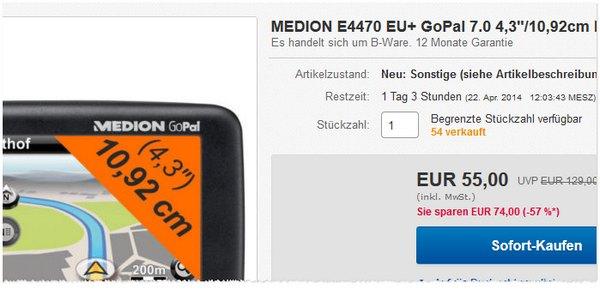 Medion GoPal E4470