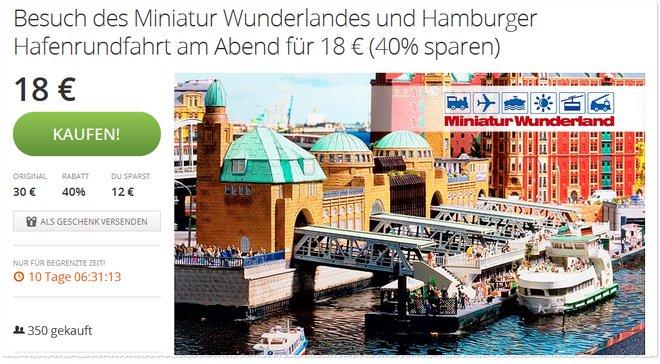 HAMBURG MINIATUR WUNDERLAND GUTSCHEIN CODES