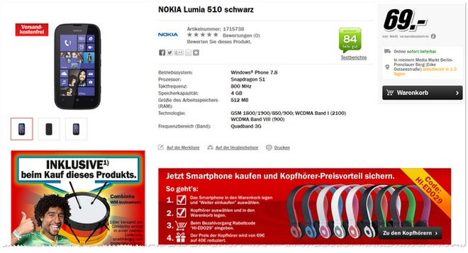 Nokia Lumia 510 Combinho