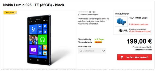 Nokia Lumia 925 Demoware Preis
