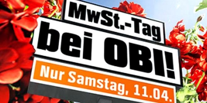OBI Mehrwertsteuer-Aktion am 11.4.2015
