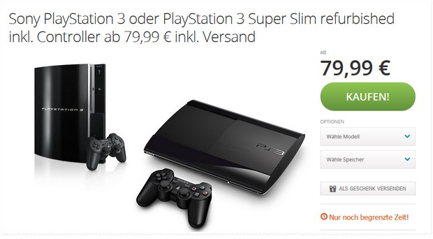 PlayStation 3 refurbished bei Groupon von reBuy