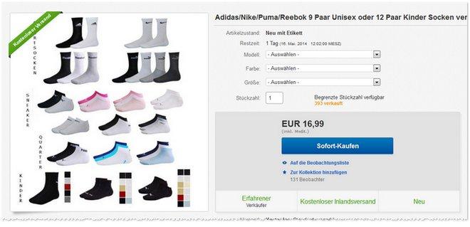 Puma Socken günstig kaufen