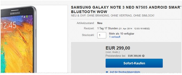 samsung galaxy note 3 gebraucht preis ohne vertrag 333. Black Bedroom Furniture Sets. Home Design Ideas