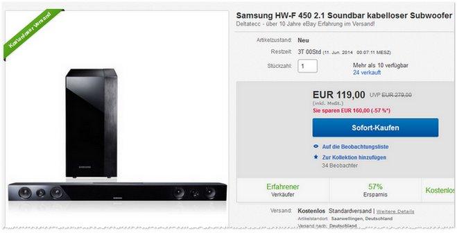 Samsung HW-F450 Preis