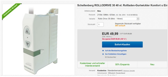 Schellenberg Rollodrive Gurtwickler