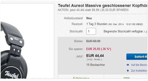 Teufel Aureol Massive günstig kaufen