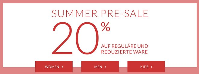Tom Tailor Summer Pre-Sale