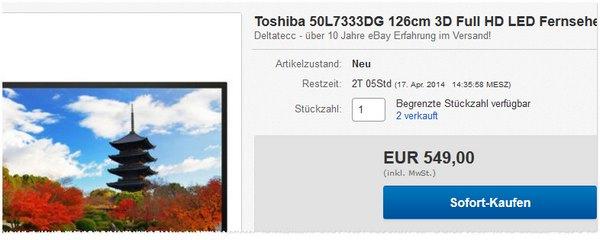 Toshiba 50L7333DG
