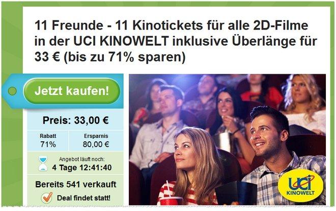 UCI Kino Ticket Gutscheine