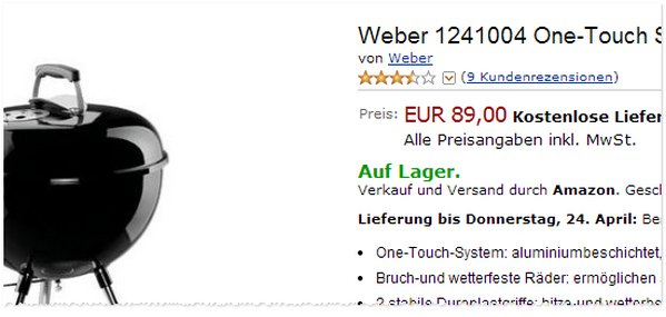 Weber One Touch Original 47 cm