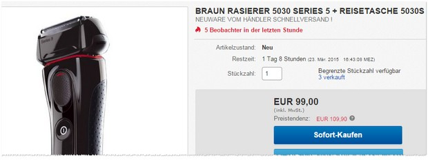 Braun Rasierer 5030 Series 5