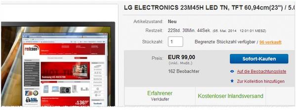 LG ELECTRONICS 23M45H