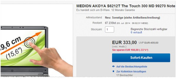 Medion Akoya S6212T