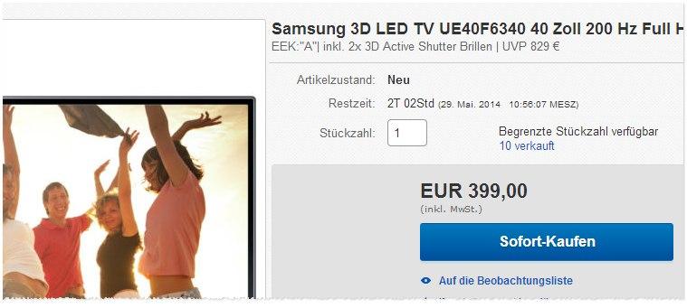 Samsung UE40F6340 kaufen