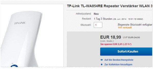TP-Link TL-WA854RE Repeater bestellen