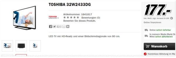 Toshiba 32W2433DG aus der Media Markt Werbung