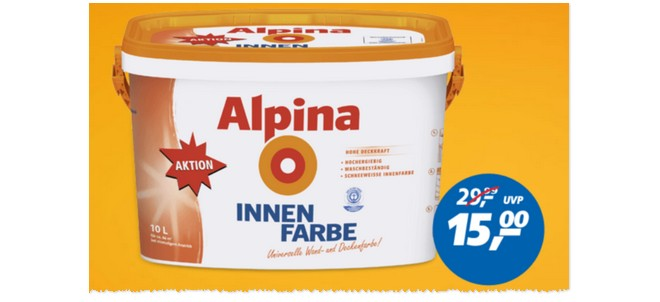 alpina innenfarbe als real angebot ab 24 f r 15. Black Bedroom Furniture Sets. Home Design Ideas
