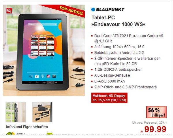 Blaupunkt Endeavour 1000 WS im Kaufland