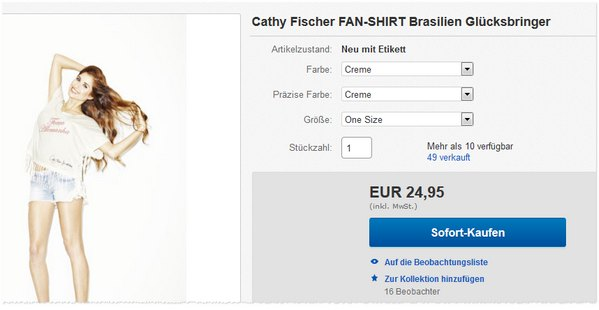 Cathy Fischer Fan-Shirt Forca Alemanha