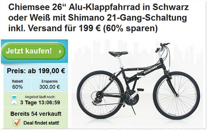 Chiemsee Klapprad Groupon